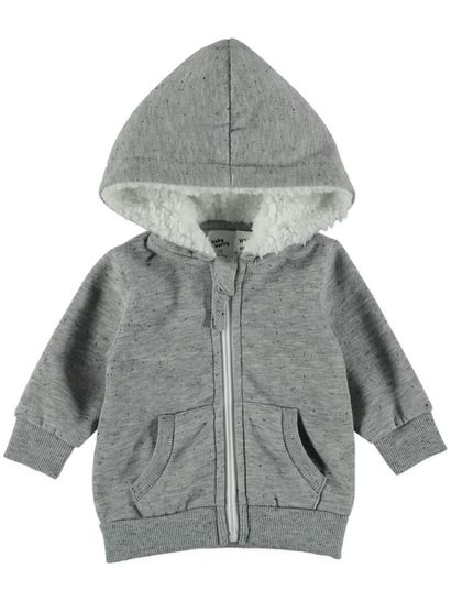 BABY FLEECE JACKET-SHERPA LINED HOOD