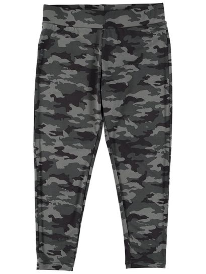 Plus Womens Camo Printed Legging