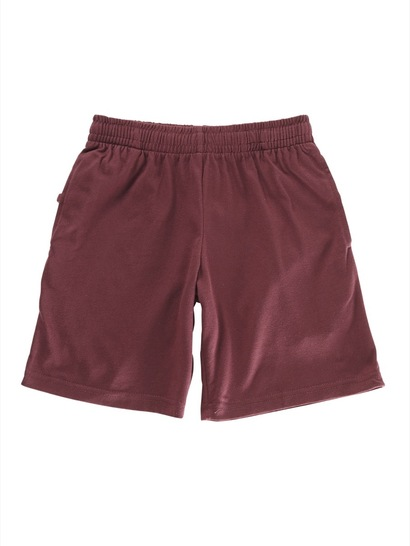 MAROON KIDS KNIT SHORTS