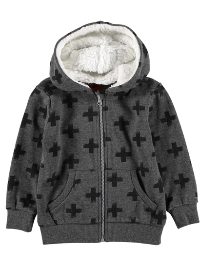 Toddler Boys Sherpa Hood Jacket