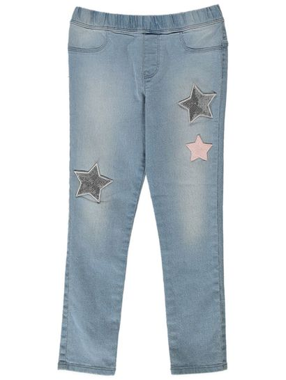 Girls Star Sequin Jegging