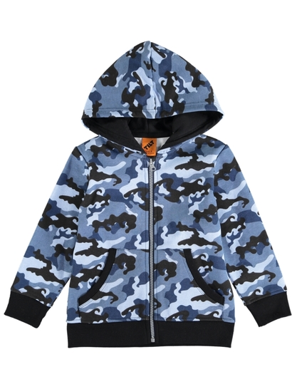 Boys Zip Through Hoodie