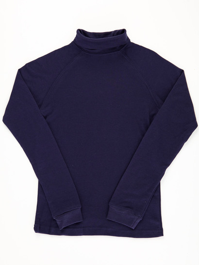 NAVY BLUE KIDS INTERLOCK SKIVVY