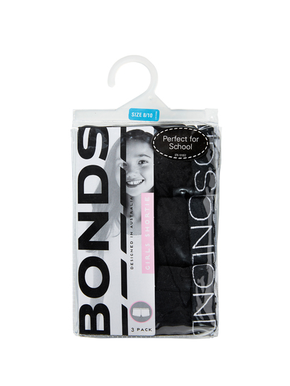 Girls 3Pk Bonds Shorties