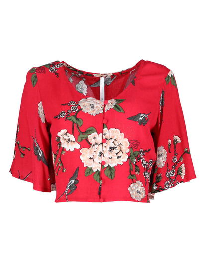 Miss Mango Long Sleeve Floral Top