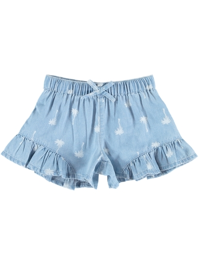 Toddler Girls Chambray Short