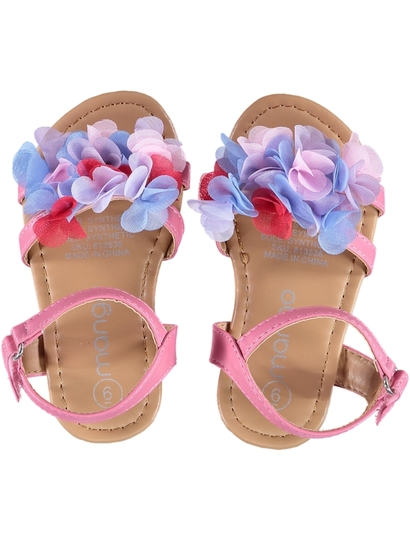 Toddler Girl Flower Sandal Pull Fasting Straps
