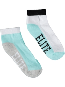 Girls 2 Pack Sports Socks