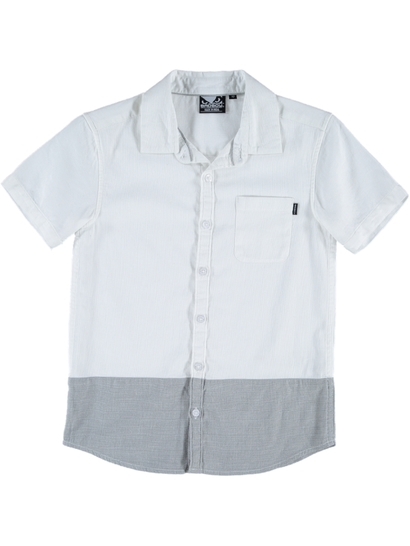 Boys Badboy Textured Short Sleeve Woven Shirt