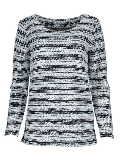 Slub Mock Knit Pullover Womens