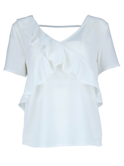 Plus Ruffle Wrap Top Womens