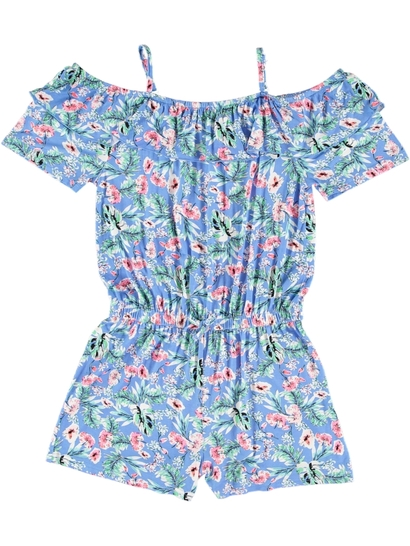 Girls Print Knit Playsuit