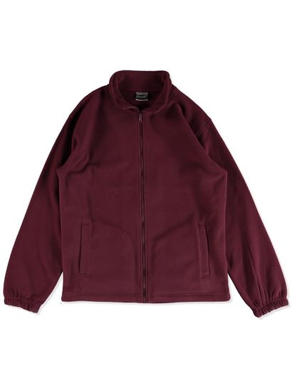 MAROON KIDS POLAR FLEECE JACKET