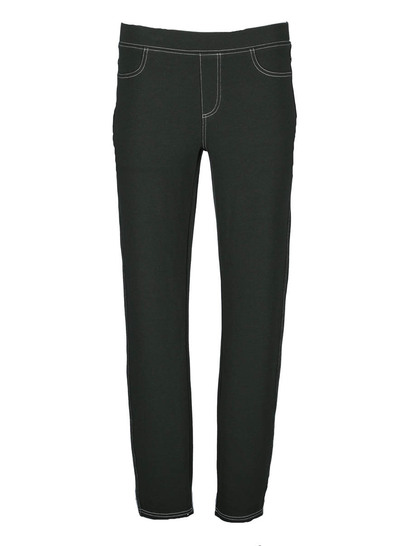 WOMENS KHAKI DENIM LOOK LEGGING