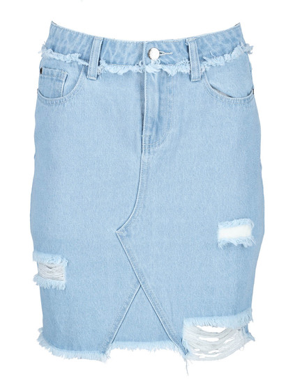 Miss Mango Asymmetrical Denim Skirt