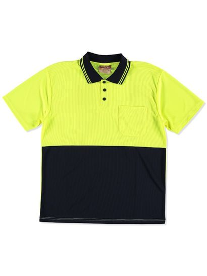 MENS HI VIS WORKWEAR POLO