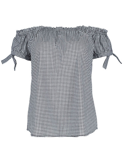 Gingham Bardot Top Womens