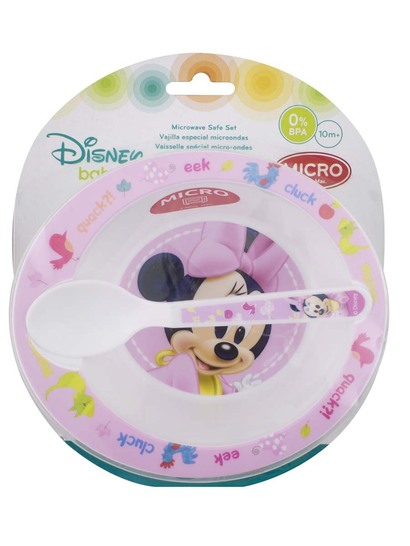 Minnie Mouse Bowl And Spoon Set