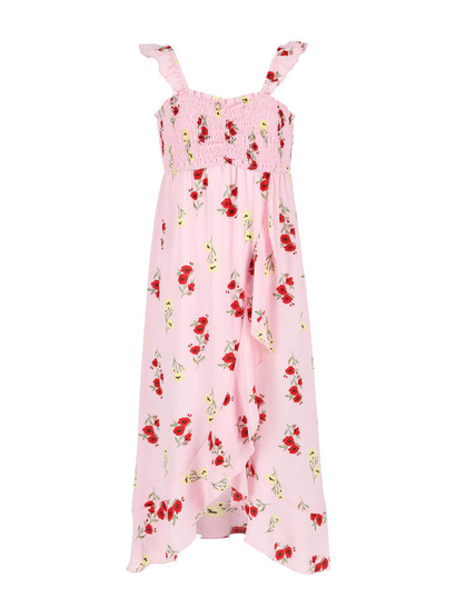 Girls Print Maxi Dress