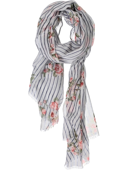 Women Flower Print Scarf