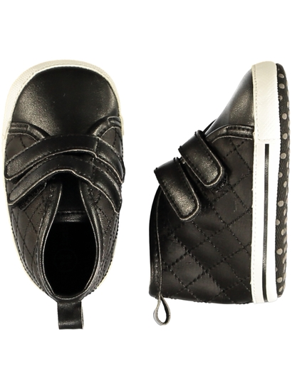 Baby Boy Soft Sole Quilted High Top