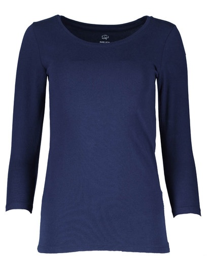 Organic Cotton Blend 3/4 Sleeve Top Womens