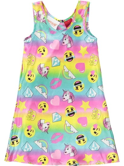 Girls Emoji Satin Nightie