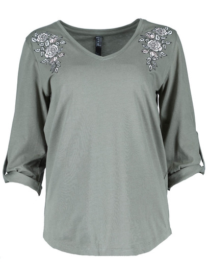 Plus Embroidered Top Womens