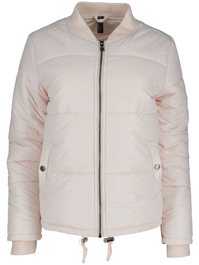 Plus Puffa Bomber Jacket Womens