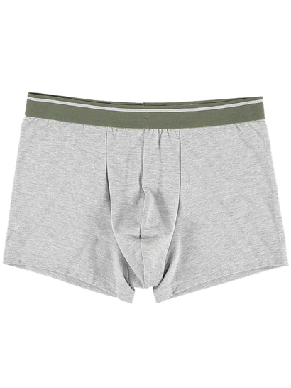 MENS TRUNK-GREY WITH KHAKI WAISTBAND