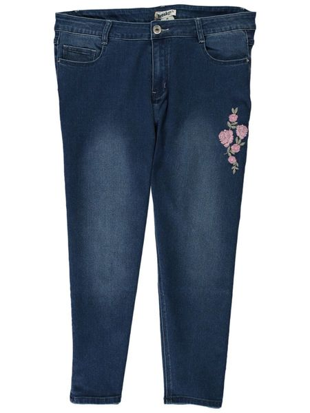 Womens Embroidered Crop Jean | Tuggl