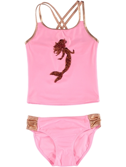 GIRLS FLIP SEQUIN TANKINI