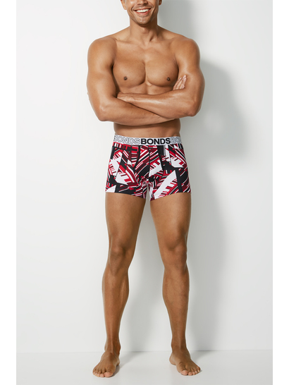 Mens Bonds Printed Fly Front Trunk