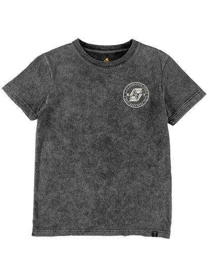 Boys Print Burnout Ss Tee
