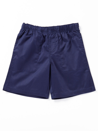 NAVY BLUE BOYS PLAIN DRILL SHORTS