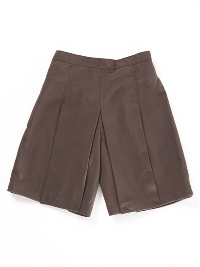 BROWN GIRLS WOVEN SKORTS