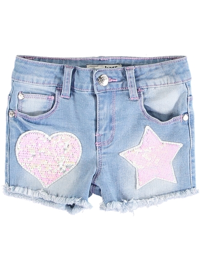 Toddler Girls Sequin Denim Short