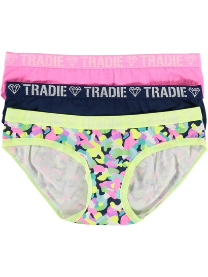 Girls Tradie 3 Pack Briefs
