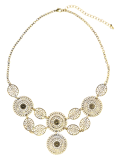 Multi Disc Statement Necklace