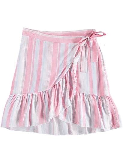 Girls Ruffle Wrap Skirt