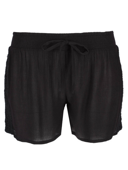 Womens Plus Crochet Trim Short