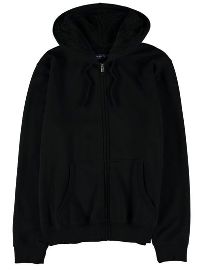 MENS FLEECE JACKET-SHERPA LINED HOOD