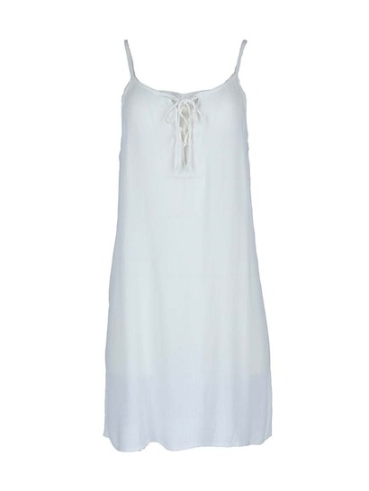 WOMENS TIE FRONT BEACH DRESS