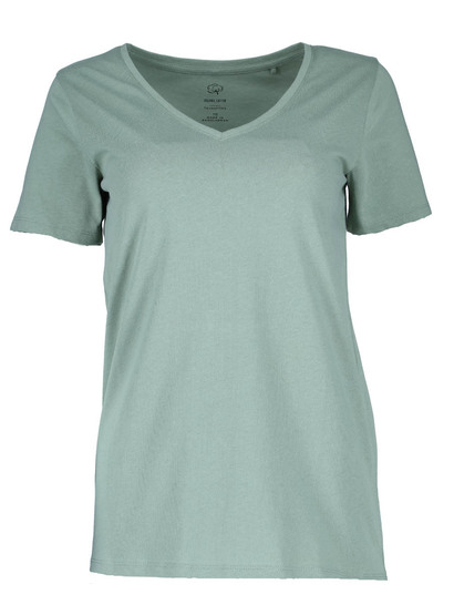 Plus Organic Cotton V Neck Tee Womens