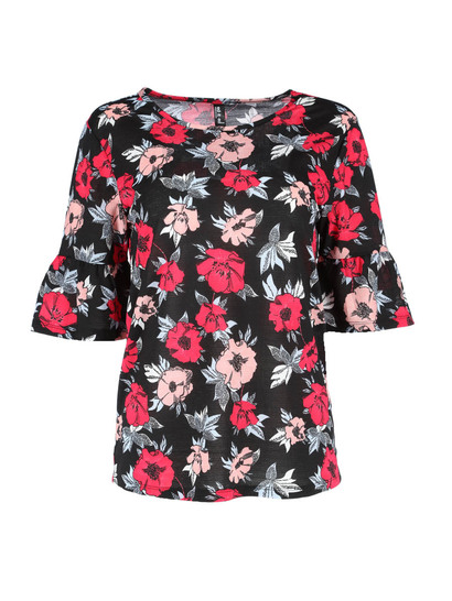 Frill Sleeve Top Womens