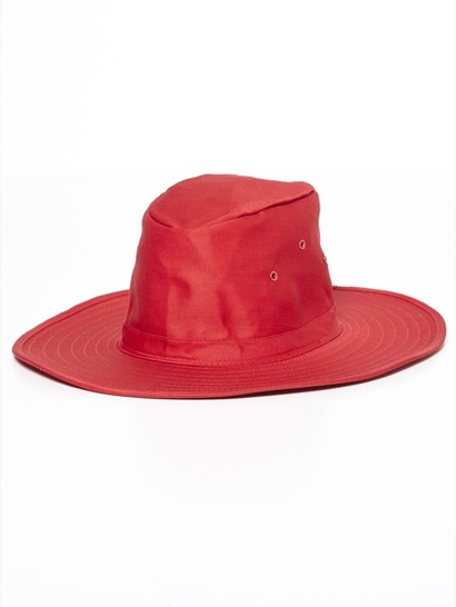 RED KIDS WIDE BRIM HAT