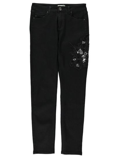 Womens Embroidered Jean