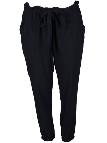 Womens Paperbag Waist Soft Pant