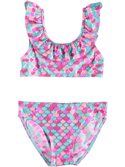 Girls Mermaid Scale Tankini