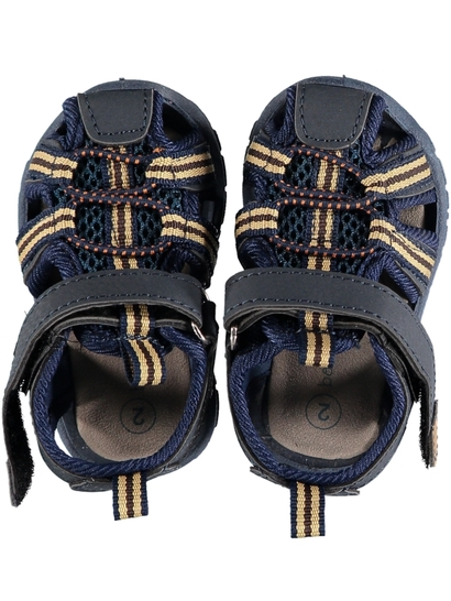 Baby Boys Hard Sole Caged Walker  Sandal